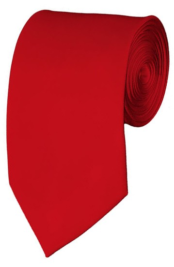 Slim Red Necktie 2.75 Inch Ties Mens Solid Color Neckties