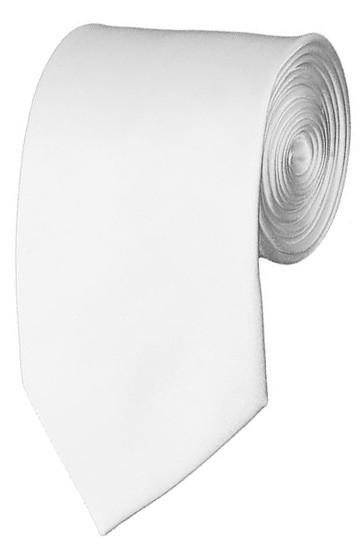 Slim White Necktie 2.75 Inch Ties Mens Solid Color Neckties