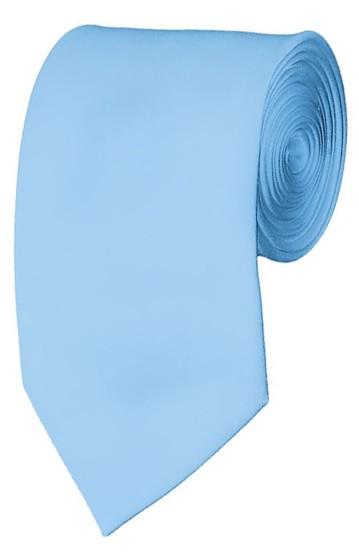 Slim Powder Blue Necktie 2.75 Inch Ties Mens Solid Color Neckties