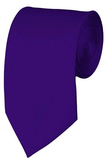 Slim Dark Purple Necktie 2.75 Inch Ties Mens Solid Color Neckties