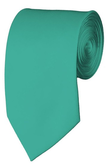 Slim Mint Green Necktie 2.75 Inch Ties Mens Solid Color Neckties