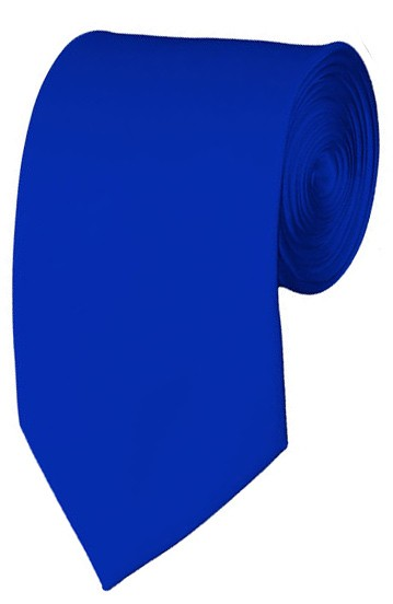 Slim Royal Blue Necktie 2.75 Inch Ties Mens Solid Color Neckties