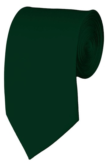 Slim Hunter Green Necktie 2.75 Inch Ties Mens Solid Color Neckties