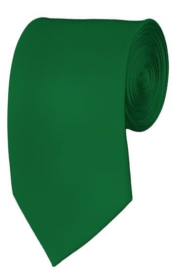 Slim Kelly Green Necktie 2.75 Inch Ties Mens Solid Color Neckties