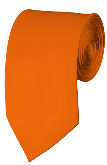 Slim Orange Necktie 2.75 Inch Ties Mens Solid Color Neckties