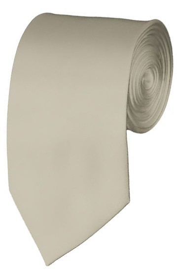 Slim Beige Necktie 2.75 Inch Ties Mens Solid Color Neckties