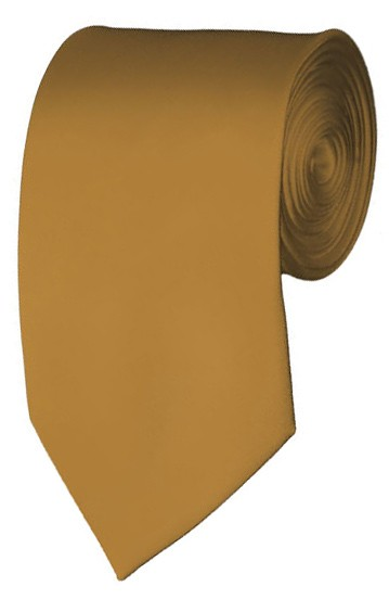 Slim Copper Necktie 2.75 Inch Ties Mens Solid Color Neckties