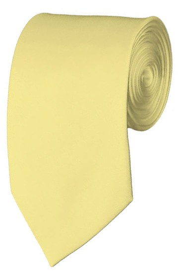 Slim Light Yellow Necktie 2.75 Inch Ties Mens Solid Color Neckties