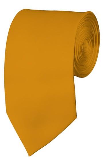 Slim Gold Bar Necktie 2.75 Inch Ties Mens Solid Color Neckties