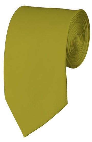 Slim Mustard Necktie 2.75 Inch Ties Mens Solid Color Neckties