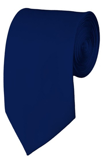 Slim Navy Necktie 2.75 Inch Ties Mens Solid Color Neckties