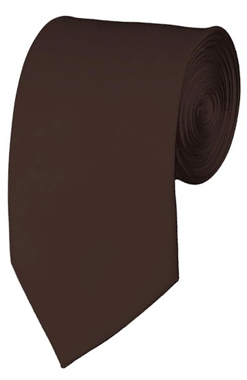 Slim Brown Necktie 2.75 Inch Ties Mens Solid Color Neckties