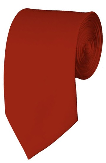 Slim Rust Necktie 2.75 Inch Ties Mens Solid Color Neckties