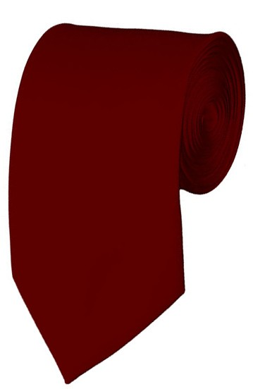 Slim Burgundy Necktie 2.75 Inch Ties Mens Solid Color Neckties