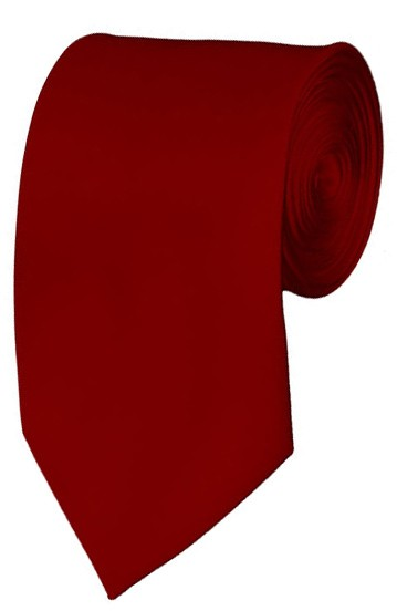 Slim Crimson Necktie 2.75 Inch Ties Mens Solid Color Neckties