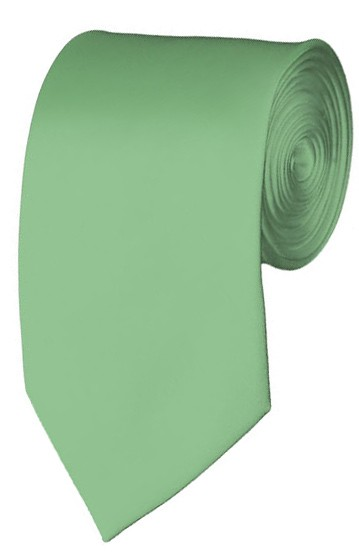 Slim Light Sage Necktie 2.75 Inch Ties Mens Solid Color Neckties