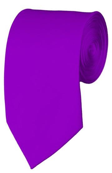 Slim Violet Necktie 2.75 Inch Ties Mens Solid Color Neckties