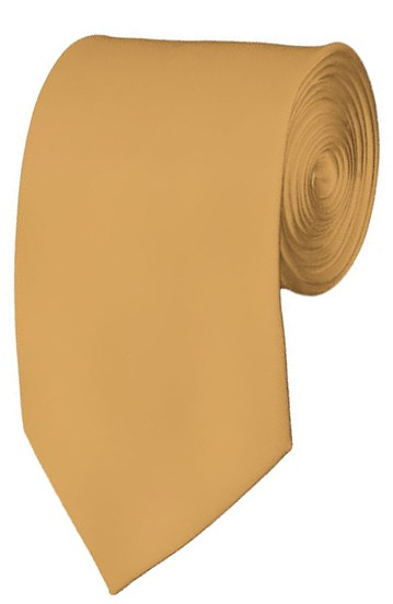 Slim Honey Gold Necktie 2.75 Inch Ties Mens Solid Color Neckties