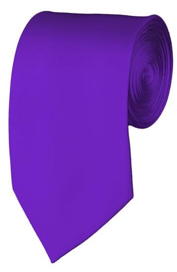 Slim Plum Violet Necktie 2.75 Inch Ties Mens Solid Color Neckties