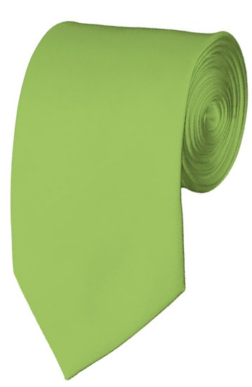 Slim Pear Green Necktie 2.75 Inch Ties Mens Solid Color Neckties