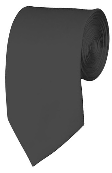 Slim Charcoal Necktie 2.75 Inch Ties Mens Solid Color Neckties