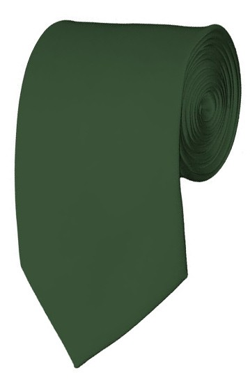 Slim Dark Olive Necktie 2.75 Inch Ties Mens Solid Color Neckties