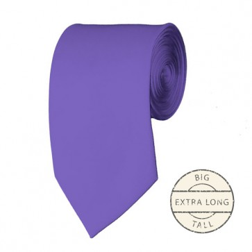Purple Extra Long Tie Solid Color Ties Mens Neckties