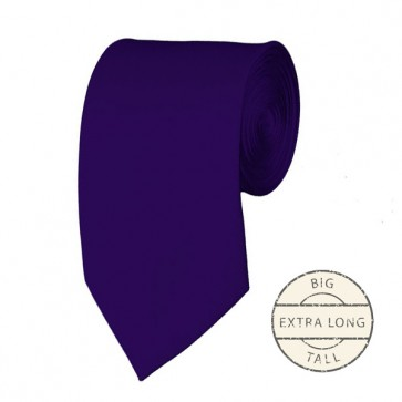 Dark Purple Extra Long Tie Solid Color Ties Mens Neckties