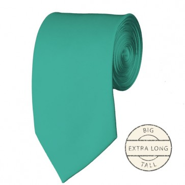 Mint Green Extra Long Tie Solid Color Ties Mens Neckties