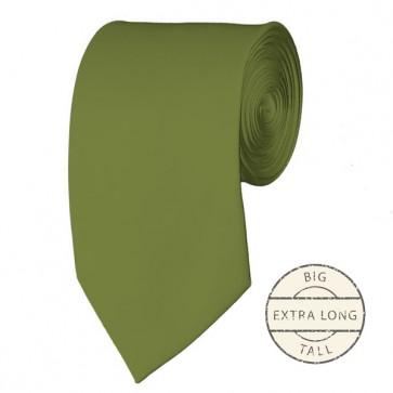 Olive Extra Long Tie Solid Color Ties Mens Neckties