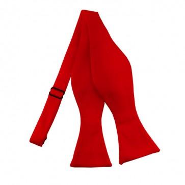 Solid Red Self Tie Bow Tie Satin Mens Ties