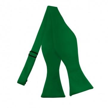Solid Kelly Green Self Tie Bow Tie Satin Mens Ties