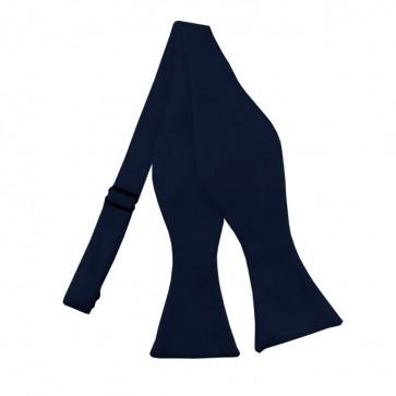 Solid Navy Self Tie Bow Tie Satin Mens Ties