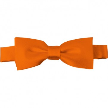 Orange Bow Tie Pre-tied Satin Boys Ties