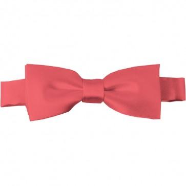 Coral Rose Bow Tie Pre-tied Satin Boys Ties