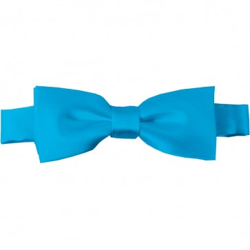 Turquoise Blue Bow Tie Pre-tied Satin Boys Ties