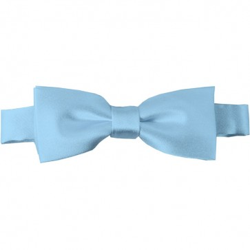 Powder Blue Bow Tie Pre-tied Satin Boys Ties