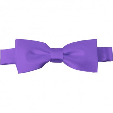 Purple Bow Tie Pre-tied Satin Boys Ties