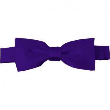 Dark Purple Bow Tie Pre-tied Satin Boys Ties