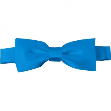 Peacock Blue Bow Tie Pre-tied Satin Boys Ties