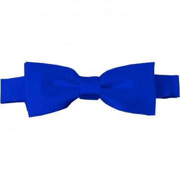 Royal Blue Bow Tie Pre-tied Satin Boys Ties