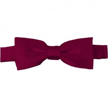 Raspberry Bow Tie Pre-tied Satin Boys Ties