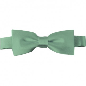 Light Sage Bow Tie Pre-tied Satin Boys Ties