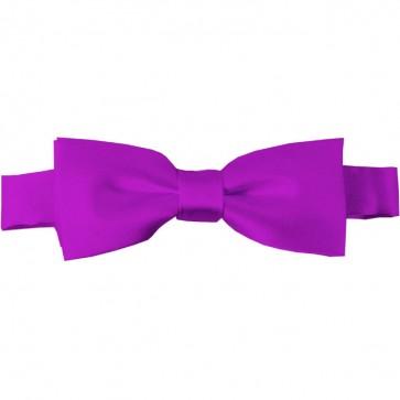 Violet Bow Tie Pre-tied Satin Boys Ties