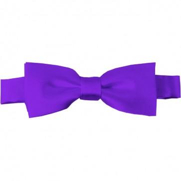 Plum Violet Bow Tie Pre-tied Satin Boys Ties