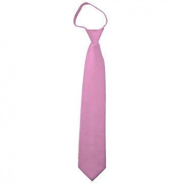 Solid Dusty Pink Zipper Ties Mens Neckties