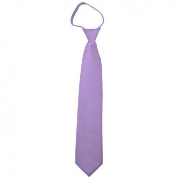 Solid Lavender Boys Zipper Ties Kids Neckties