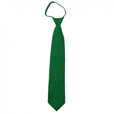 Solid Kelly Green Zipper Ties Mens Neckties