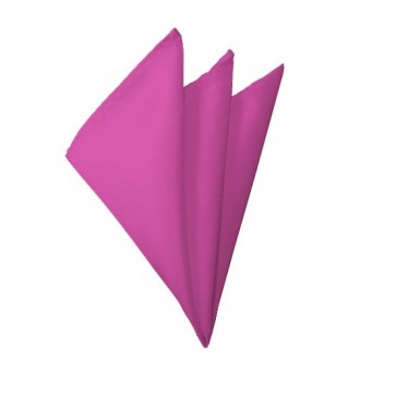 Solid Hot Pink Hanky Mens Handkerchief Pocket Square