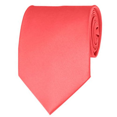 Coral Rose Neckties Solid Color Ties